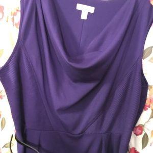 Dressbarn purple sweater dress with belt